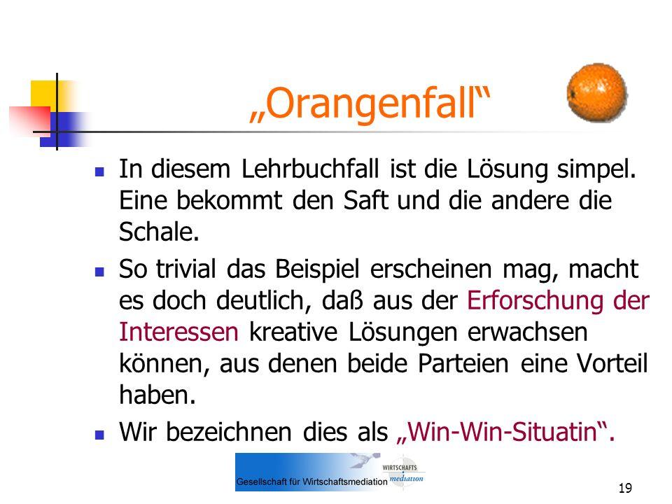 """""""Orangenfall In diesem Lehrbuchfall ist die Lösung simpel. Eine bekommt den Saft und die andere die Schale."""