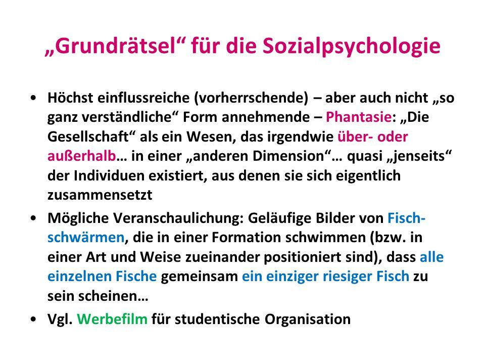 """""""Grundrätsel für die Sozialpsychologie"""