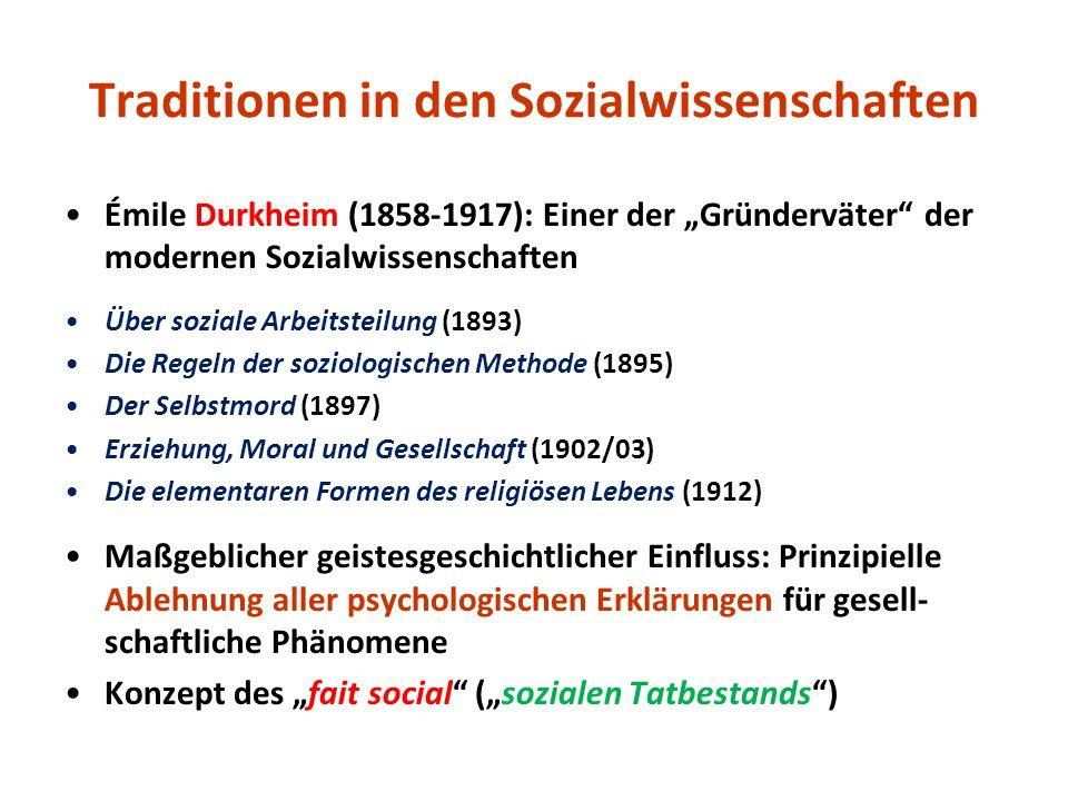 Traditionen in den Sozialwissenschaften