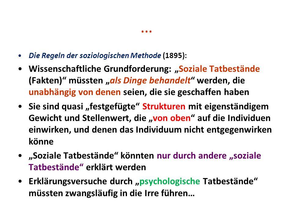 … Die Regeln der soziologischen Methode (1895):
