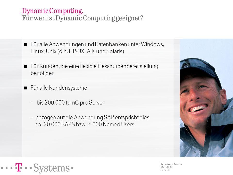 Dynamic Computing. Für wen ist Dynamic Computing geeignet (2)