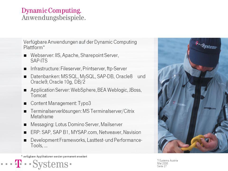 Dynamic Computing. Eignungskriterien.