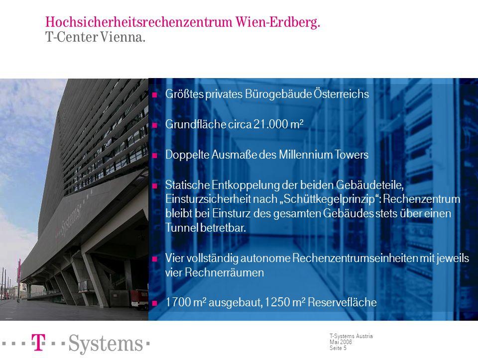 Hochsicherheitsrechenzentrum Wien-Erdberg. T-Center Vienna.