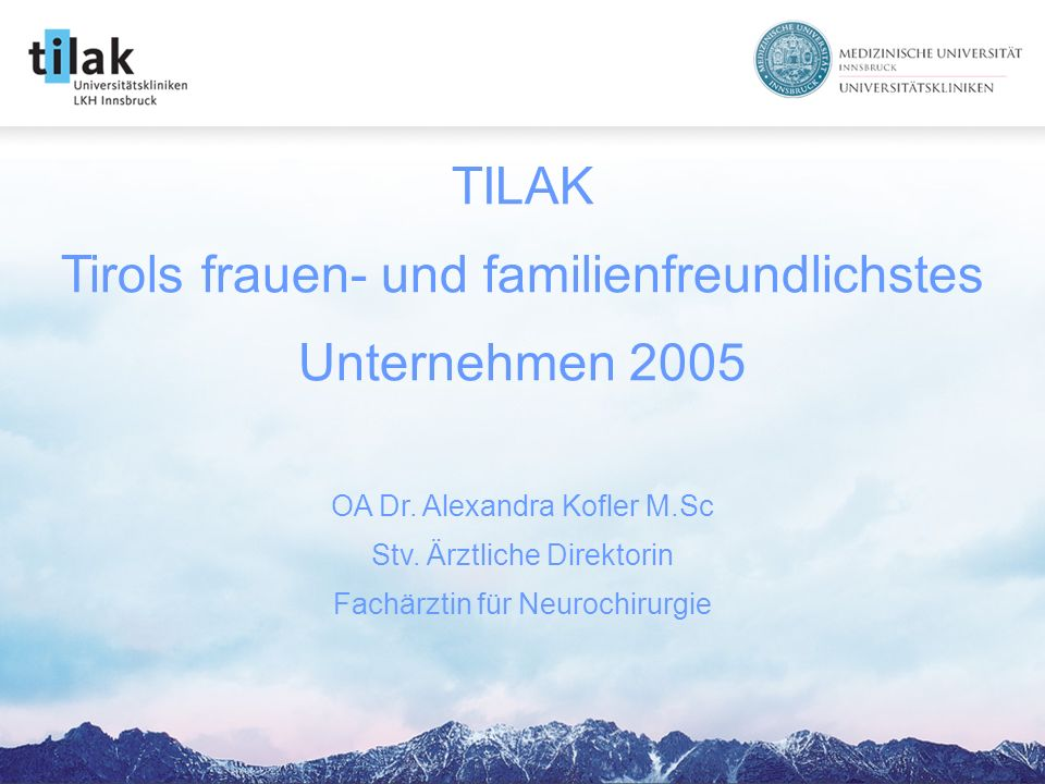 TILAK Tirols frauen- und familienfreundlichstes Unternehmen 2005