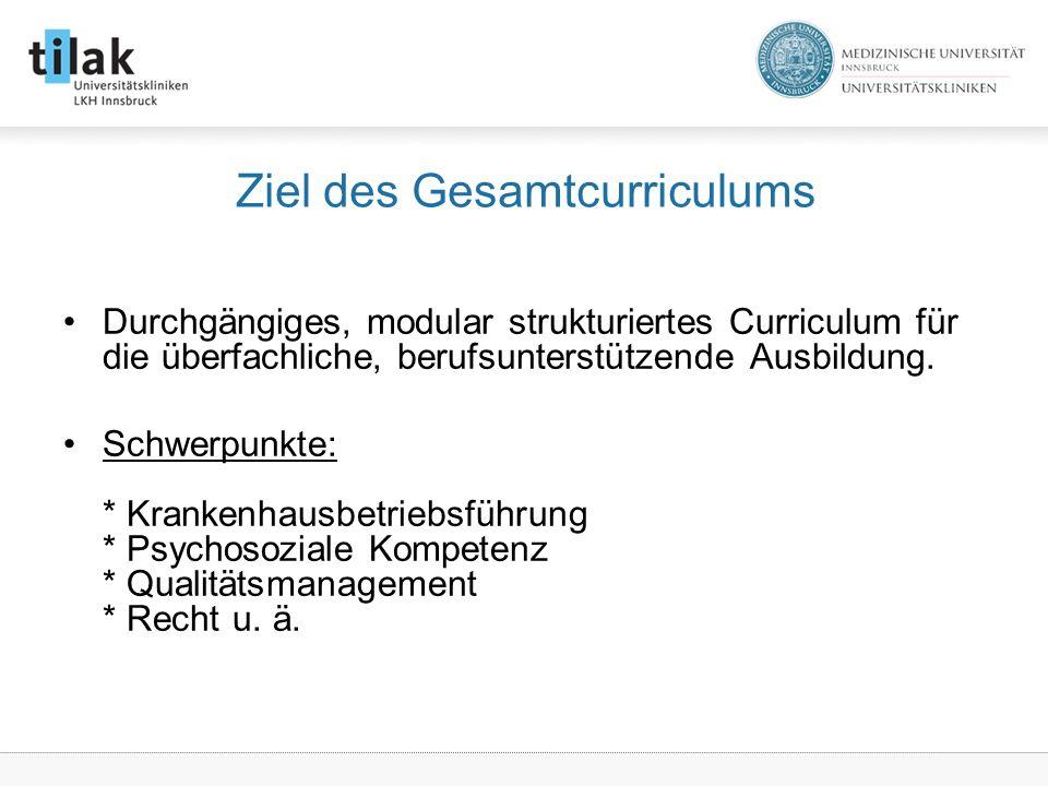 Ziel des Gesamtcurriculums