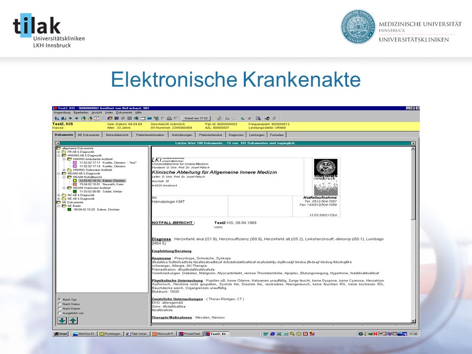 Elektronische Krankenakte