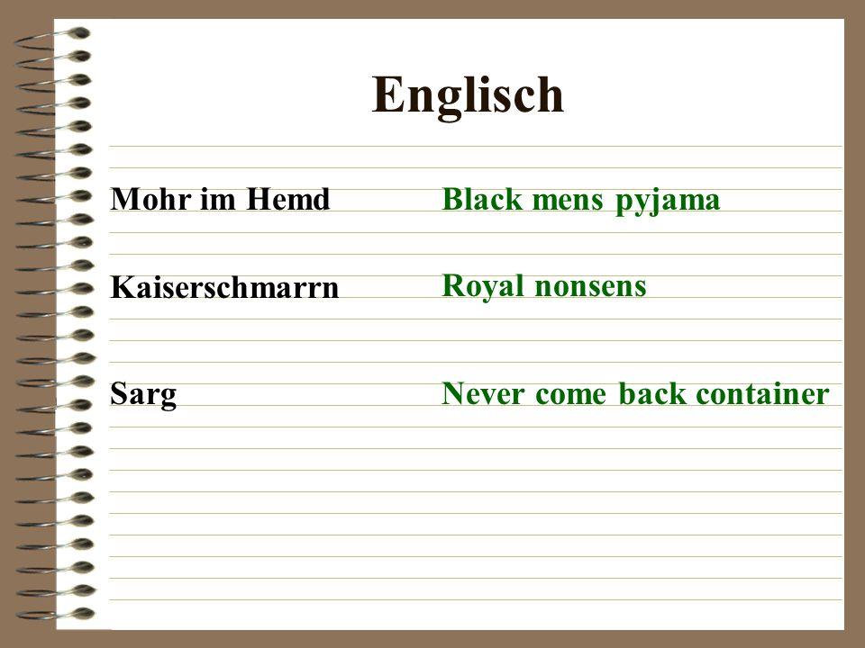 Englisch Mohr im Hemd Black mens pyjama Kaiserschmarrn Royal nonsens