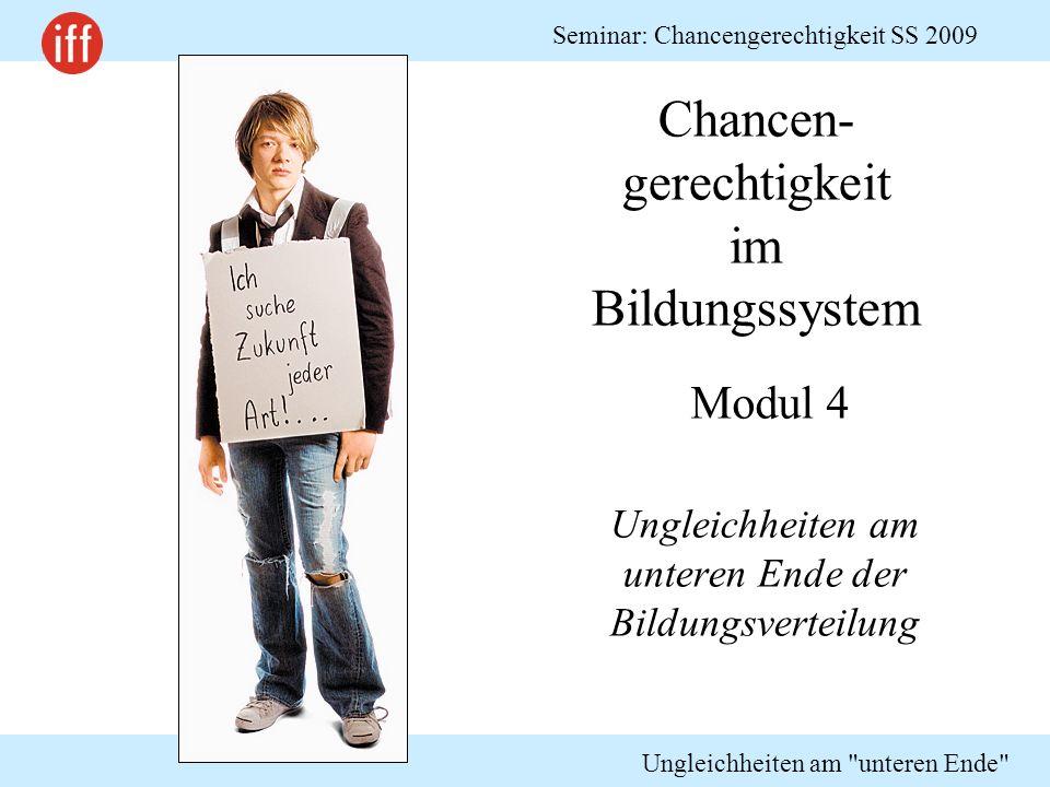 Chancen-gerechtigkeit im Bildungssystem