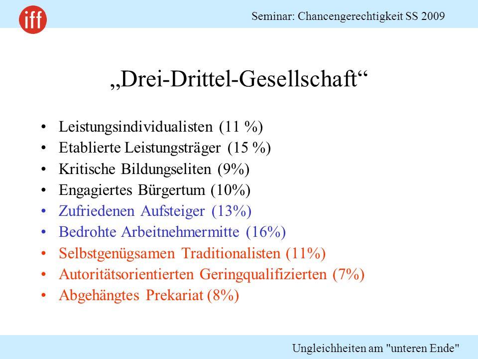 """""""Drei-Drittel-Gesellschaft"""
