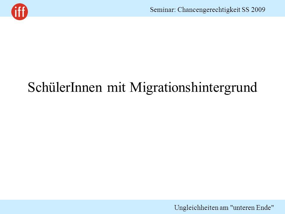 SchülerInnen mit Migrationshintergrund