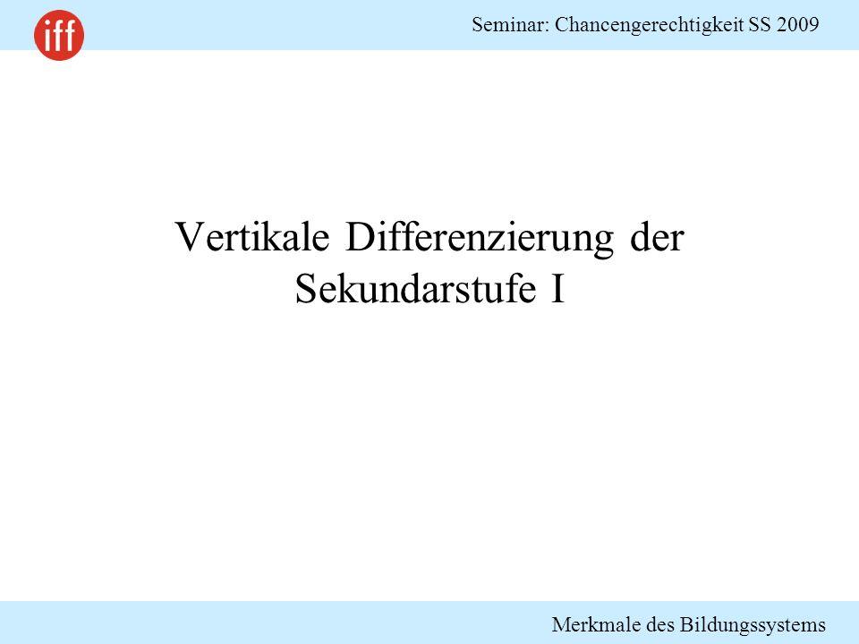 Vertikale Differenzierung der Sekundarstufe I