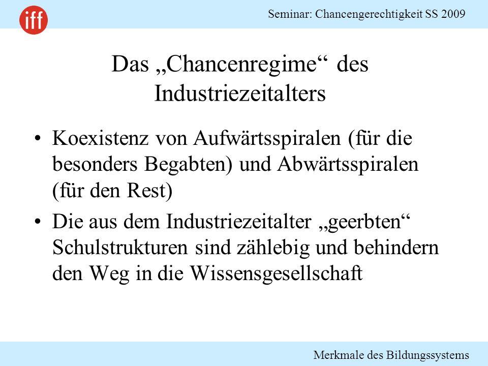 """Das """"Chancenregime des Industriezeitalters"""