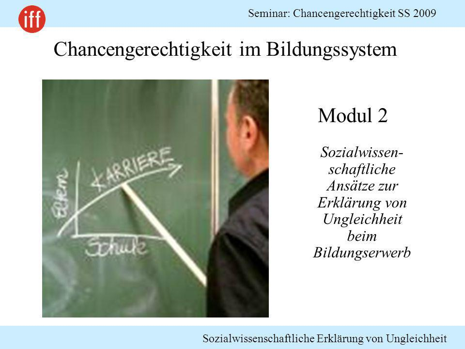Chancengerechtigkeit im Bildungssystem