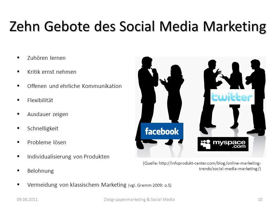Zehn Gebote des Social Media Marketing
