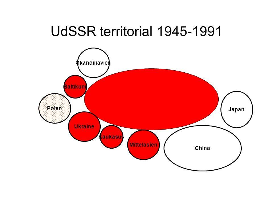 UdSSR territorial 1945-1991 Skandinavien Baltikum Polen Japan Ukraine