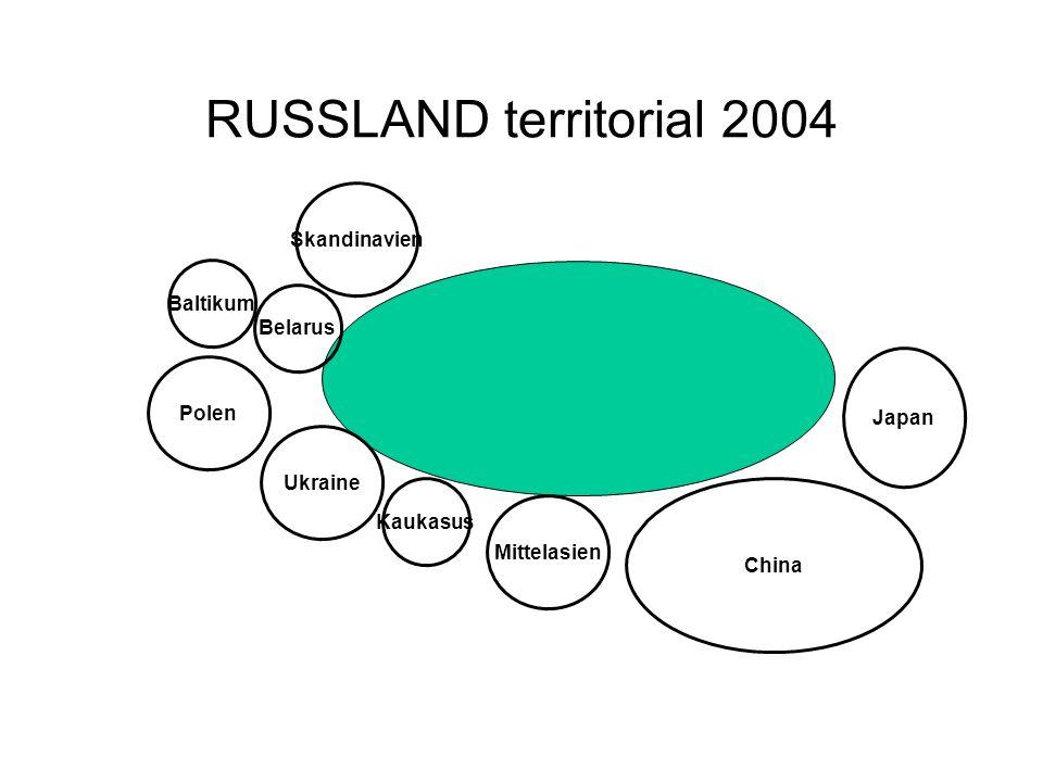 RUSSLAND territorial 2004 Skandinavien Baltikum Belarus Polen Japan