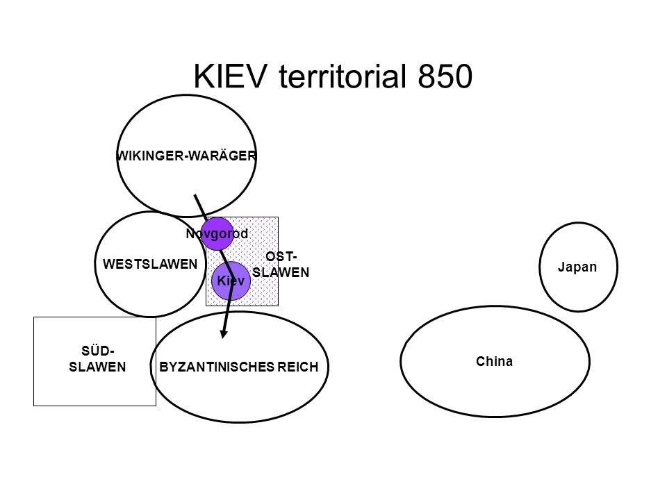 KIEV territorial 850 WIKINGER-WARÄGER Novgorod WESTSLAWEN Japan