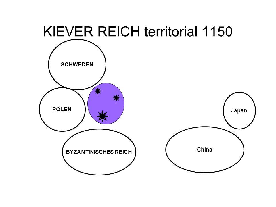 KIEVER REICH territorial 1150