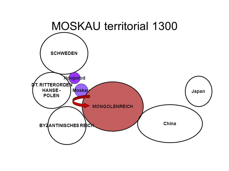 MOSKAU territorial 1300 SCHWEDEN Novgorod DT. RITTERORDEN HANSE -