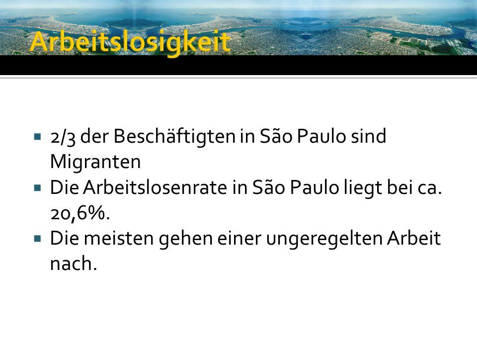 Arbeitslosigkeit 2/3 der Beschäftigten in São Paulo sind Migranten