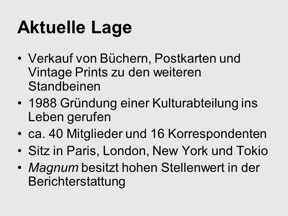 Aktuelle Lage Verkauf von Büchern, Postkarten und Vintage Prints zu den weiteren Standbeinen. 1988 Gründung einer Kulturabteilung ins Leben gerufen.