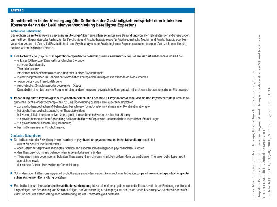 """Unipolare Depression: Empfehlungen zur Diagnostik und Therapie aus der aktuellen S3- und Nationalen VersorgungsLeitlinie """"Unipolare Depression"""