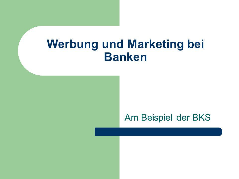 Werbung und Marketing bei Banken