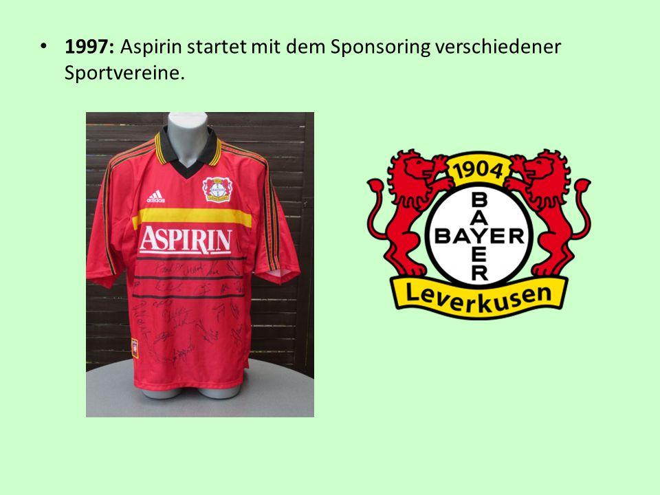 1997: Aspirin startet mit dem Sponsoring verschiedener Sportvereine.