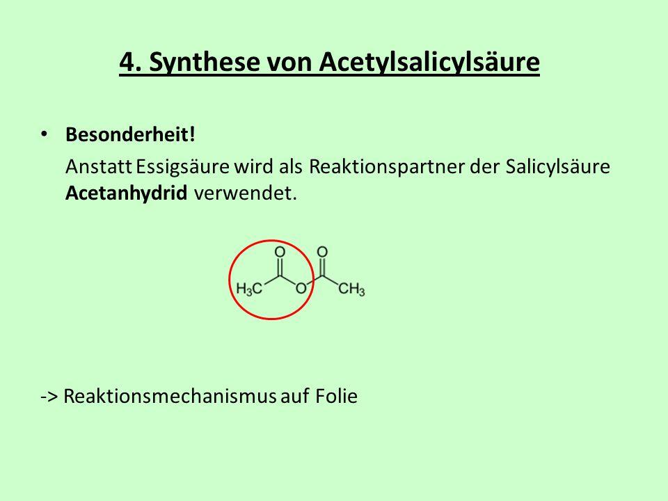 4. Synthese von Acetylsalicylsäure