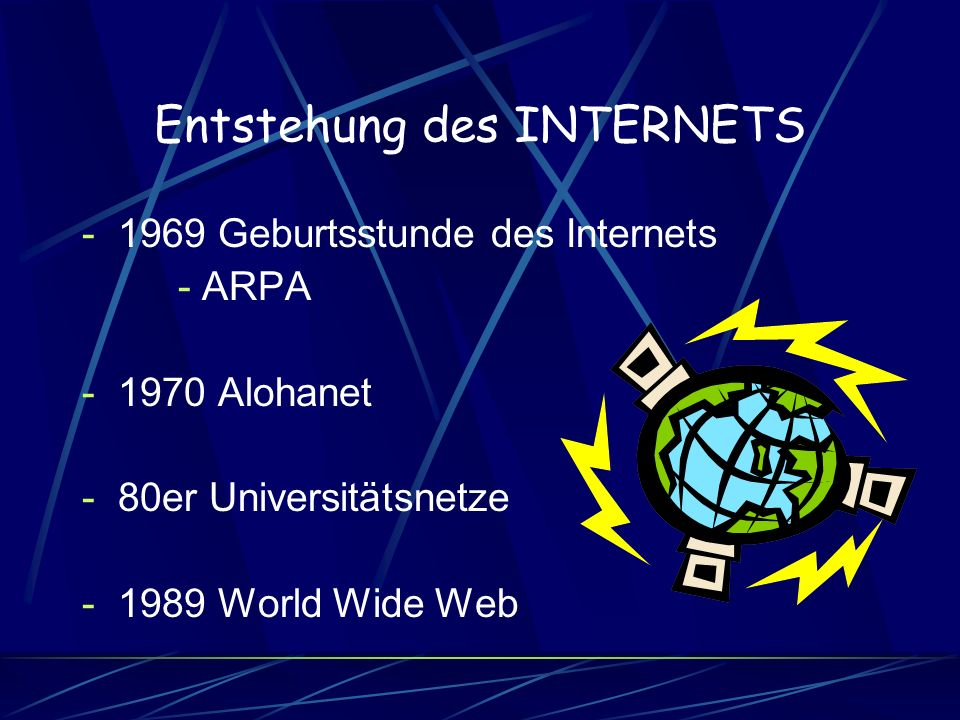 Entstehung des INTERNETS