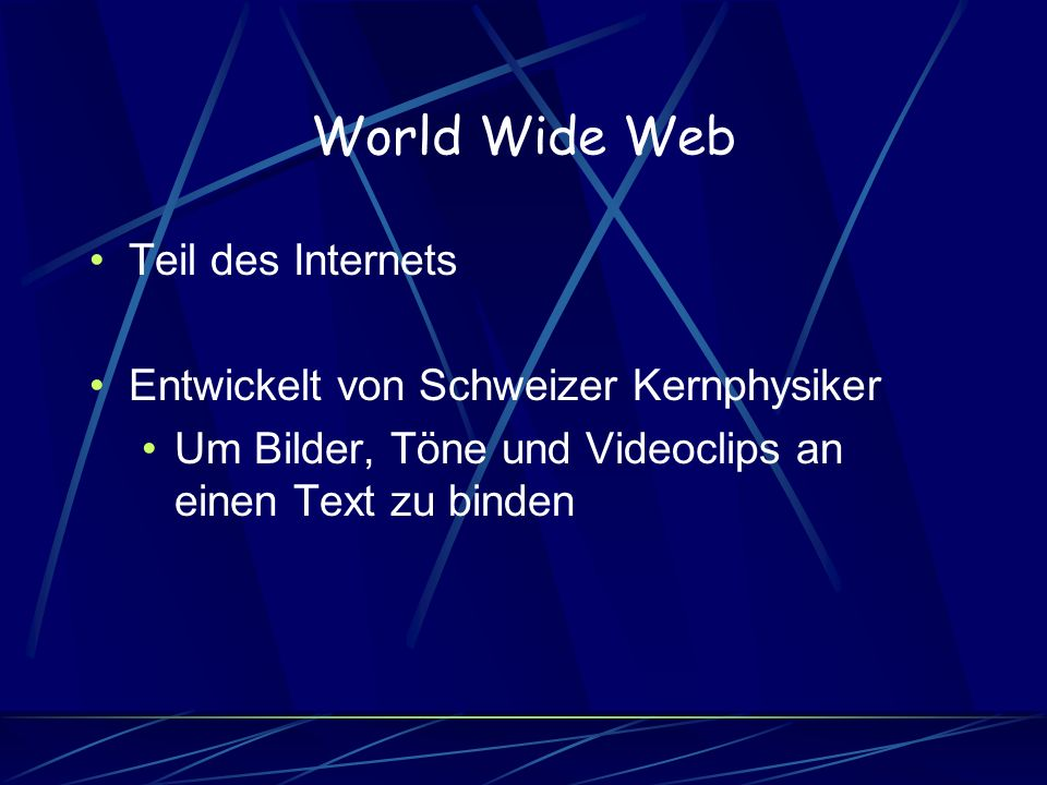 World Wide Web Teil des Internets