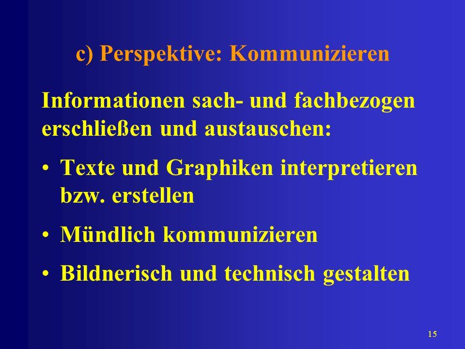 c) Perspektive: Kommunizieren