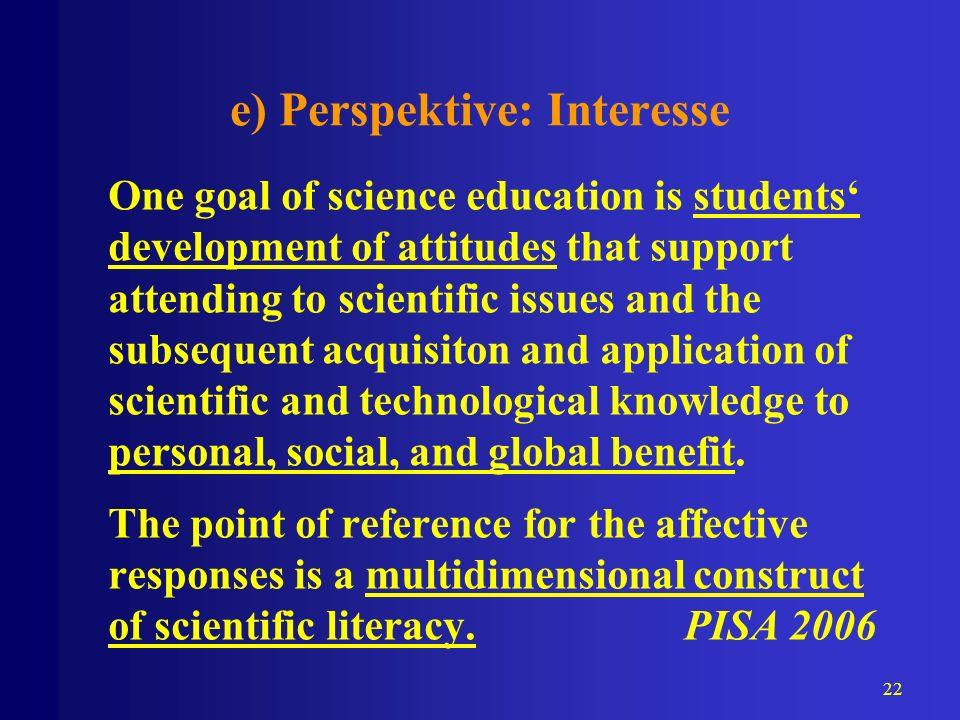 e) Perspektive: Interesse