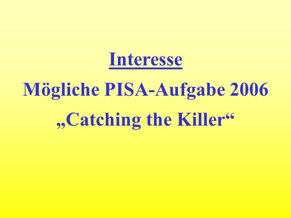Mögliche PISA-Aufgabe 2006