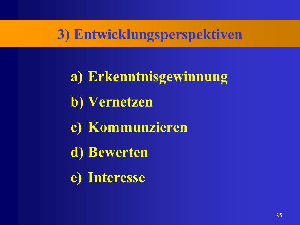 3) Entwicklungsperspektiven