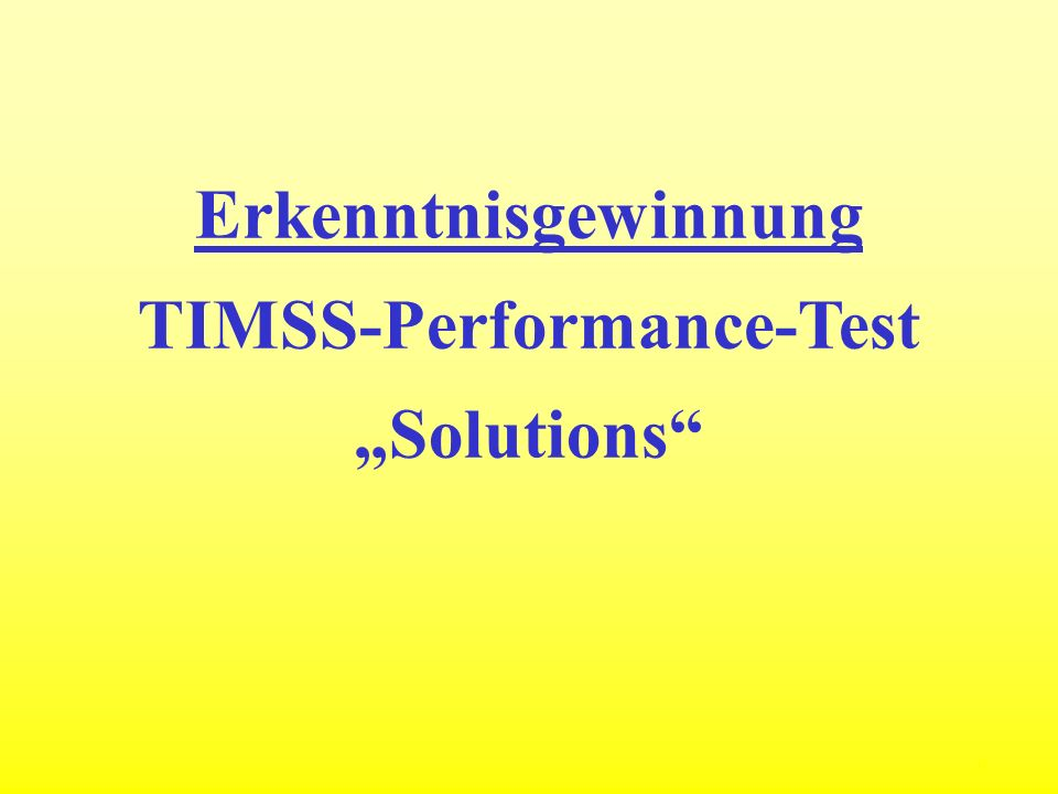 TIMSS-Performance-Test