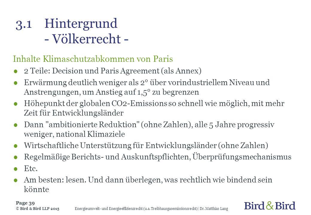 3.1 Hintergrund - Völkerrecht -