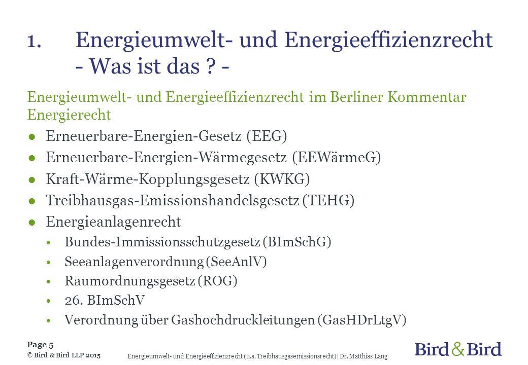 1. Energieumwelt- und Energieeffizienzrecht - Was ist das -