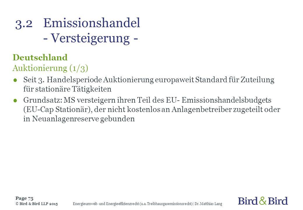 3.2 Emissionshandel - Versteigerung -