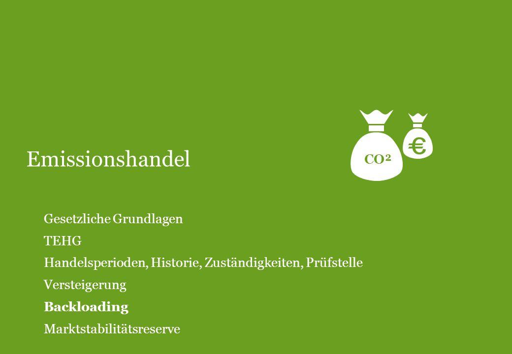 Emissionshandel CO² Gesetzliche Grundlagen TEHG