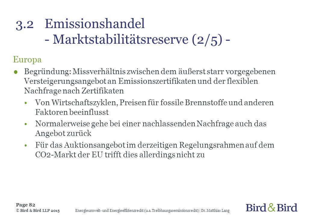 3.2 Emissionshandel - Marktstabilitätsreserve (2/5) -