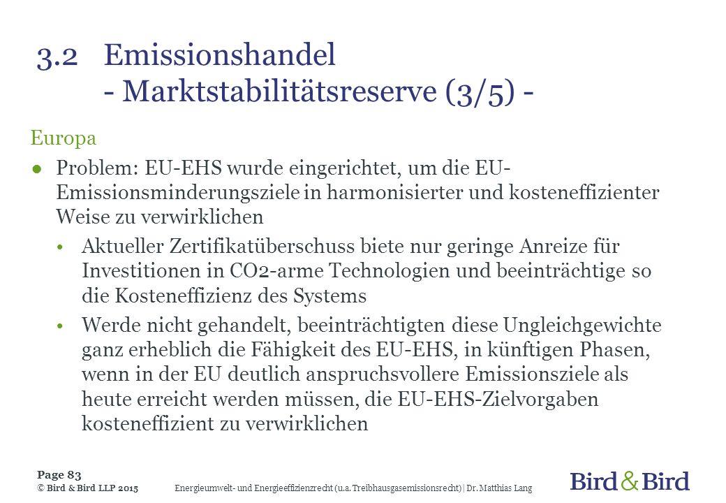 3.2 Emissionshandel - Marktstabilitätsreserve (3/5) -