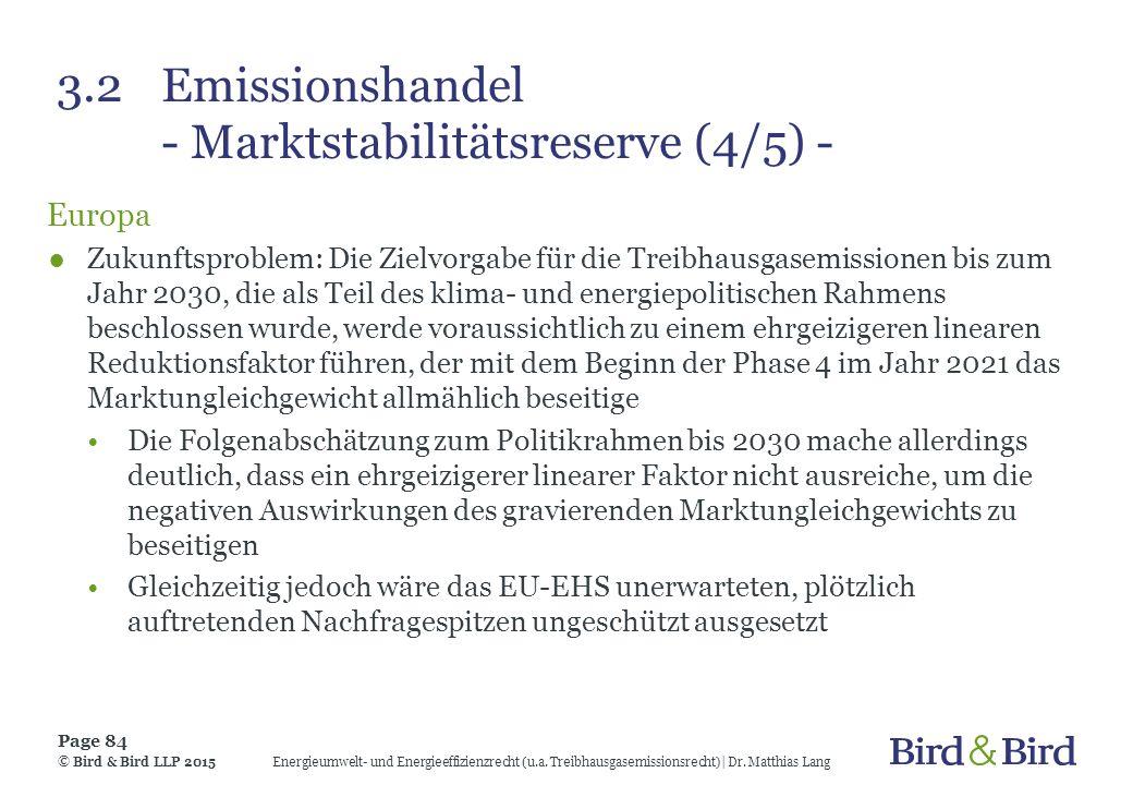 3.2 Emissionshandel - Marktstabilitätsreserve (4/5) -