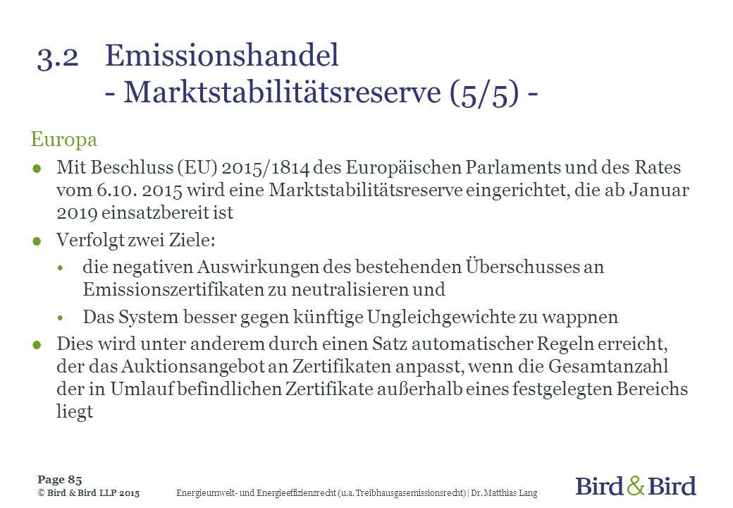 3.2 Emissionshandel - Marktstabilitätsreserve (5/5) -