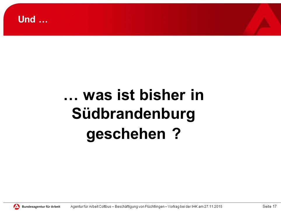 … was ist bisher in Südbrandenburg