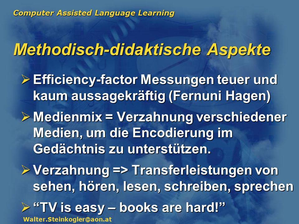 Methodisch-didaktische Aspekte