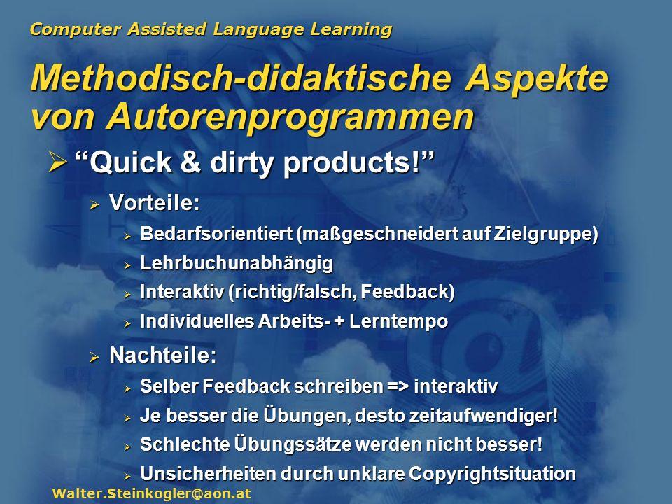 Methodisch-didaktische Aspekte von Autorenprogrammen