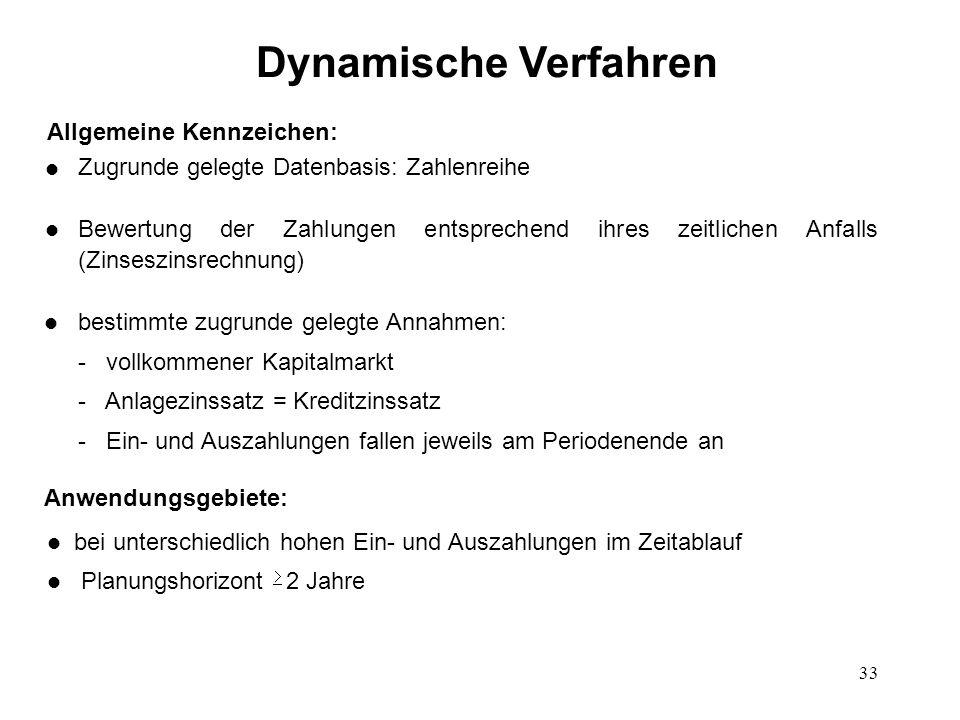 Dynamische Verfahren Allgemeine Kennzeichen: