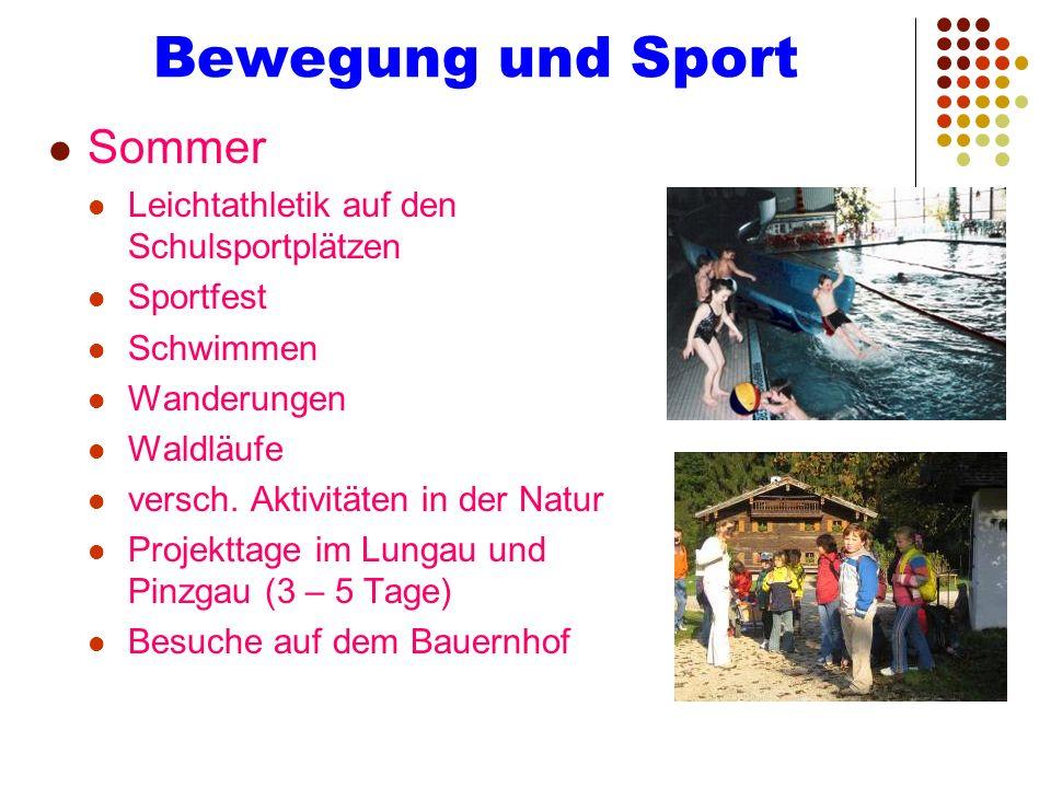 Bewegung und Sport Sommer Leichtathletik auf den Schulsportplätzen