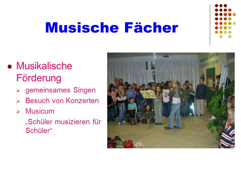 Musische Fächer Musikalische Förderung gemeinsames Singen